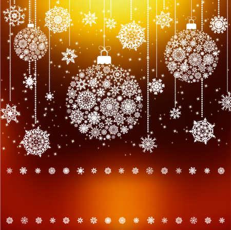 Stylized Christmas Balls, Background.