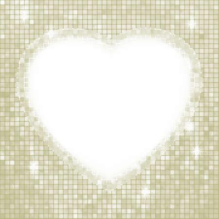Ilustración de Valentine day mosaic heart card. - Imagen libre de derechos