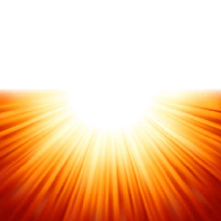 Sunburst rays of sunlight tenplate