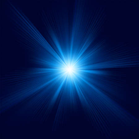 Blue color design with a burst.