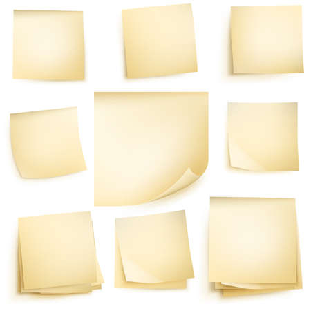 Post it notes isolated on white background. vector file included