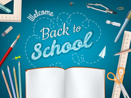 Illustration pour Back to School background.   - image libre de droit