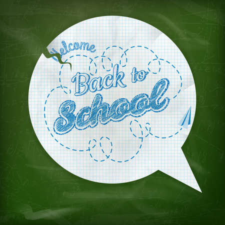 Back to school - blackboard education concept still life. EPS 10 vector file included