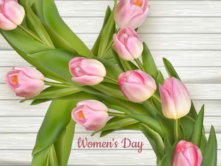 On the 8th of March is women s day .  vector file included