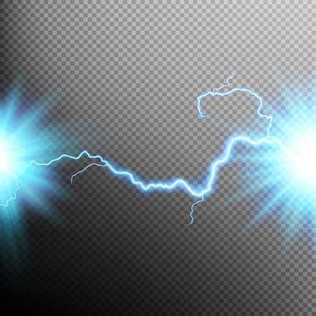 Illustration pour Electrical discharge. Lightning. Light effect. EPS 10 vector file included - image libre de droit