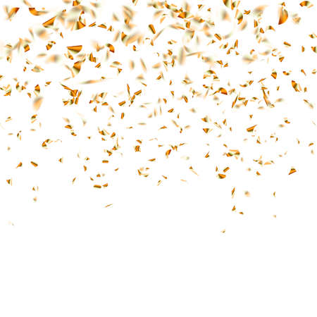 Illustration for Festive glittering gold confetti falling. vector file included - Royalty Free Image