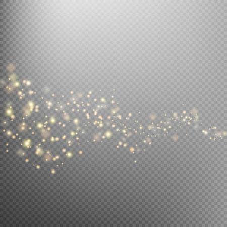 Illustration pour Gold glittering star dust trail sparkling particles on transparent background. Space comet tail. Glamour fashion illustration. EPS 10 vector file included - image libre de droit