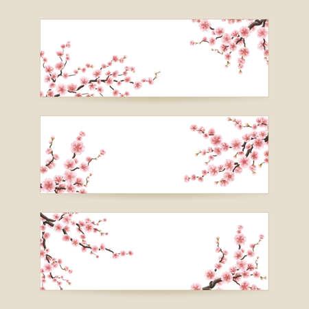 Illustration pour Cherry blossom sakura. EPS 10 - image libre de droit