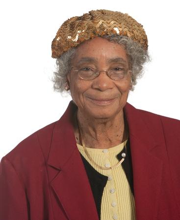 Portrait Happy elderly african american woman