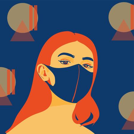 Ilustración de people wear protect mask vector - Imagen libre de derechos