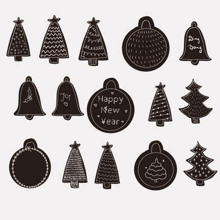 Illustration pour Merry Christmas and Happy New Year greetings card - image libre de droit