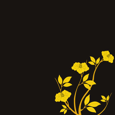 Gold flowers