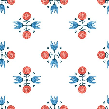 the flower is an inspired example of folk art in the Scandinavian style. vector illustration. perfect for decorating postcards, t-shirts or packaging.