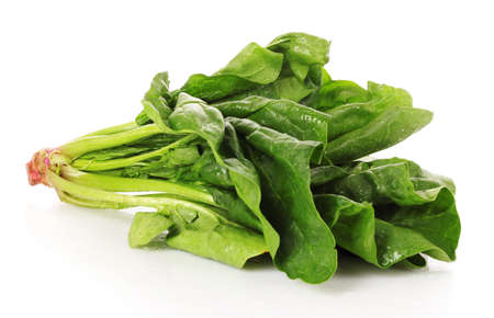 Bunch of spinach isolated on white background