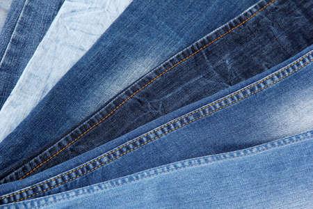 Many jeans closeup