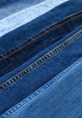 Many jeans closeup