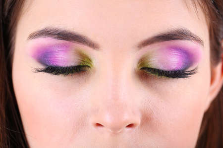 Beautiful female eyes with bright  make-up
