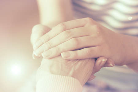 Photo for Helping hands, care for the elderly concept - Royalty Free Image