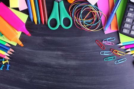 Photo pour School supplies close-up - image libre de droit