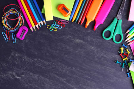 Photo pour School supplies close-up - image libre de droit