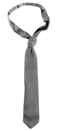 Grey male tie isolated on white