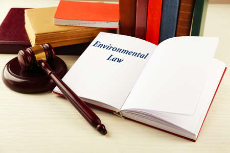 Open book with Environmental Law word