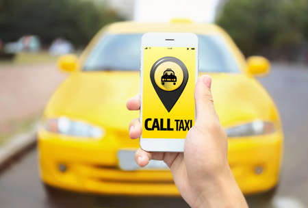 Taxi. Application on phone
