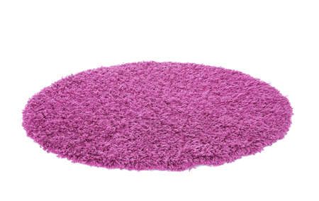 Round color carpet on white background