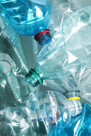 Photo pour Many plastic bottles as background, closeup. Recycle concept - image libre de droit