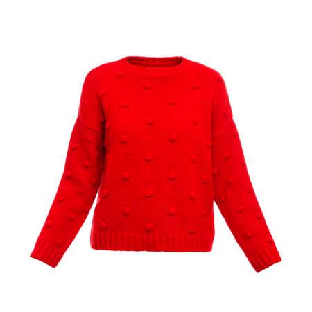 Photo for Stylish warm female sweater on white background - Royalty Free Image