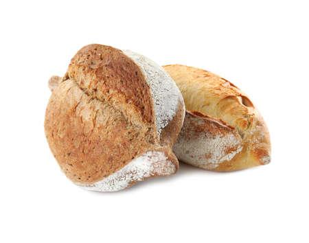 Foto für Loaves of fresh bread isolated on white background - Lizenzfreies Bild