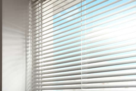 Photo for Closeup view of window with horizontal blinds - Royalty Free Image