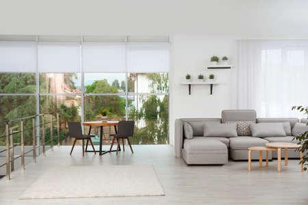 Foto de Living room with modern furniture and stylish decor. Ideas for interior - Imagen libre de derechos