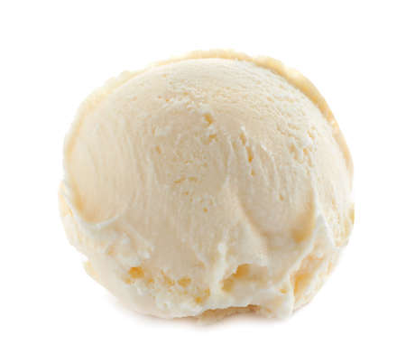Photo for Scoop of delicious ice cream on white background - Royalty Free Image
