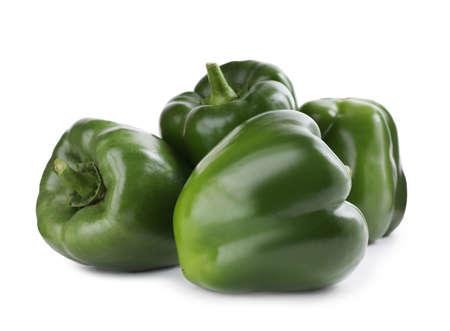 Foto für Ripe green bell peppers isolated on white - Lizenzfreies Bild