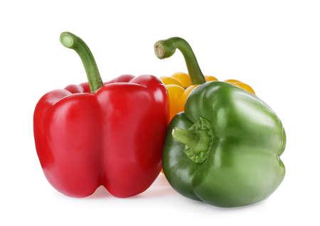 Foto für Fresh ripe bell peppers isolated on white - Lizenzfreies Bild