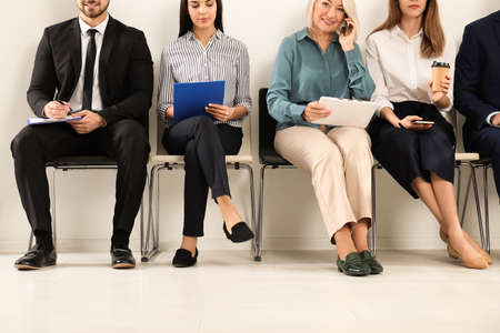 Photo for People waiting for job interview in office - Royalty Free Image