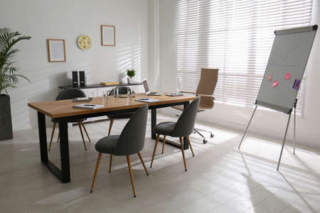 Photo for Conference room interior with modern office table - Royalty Free Image