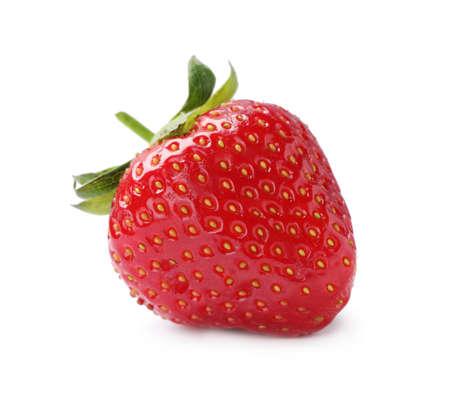 Photo pour Delicious fresh ripe strawberry isolated on white - image libre de droit