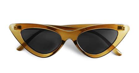 Foto de Stylish sunglasses on white background. Summer accessory - Imagen libre de derechos
