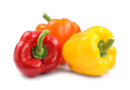 Foto für Fresh ripe bell peppers on white background - Lizenzfreies Bild