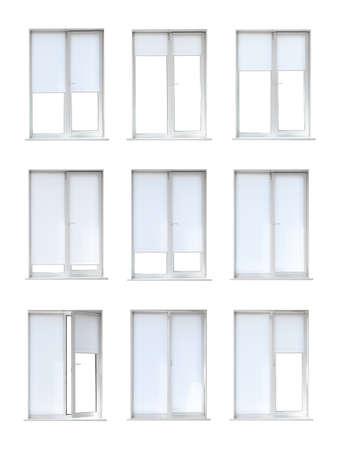 Photo for Set of modern windows on white background - Royalty Free Image