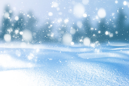 Photo for Winter background of snow and frost with free space for your decoration. - Royalty Free Image
