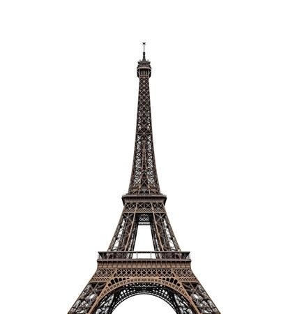 Photo pour Eiffel tower isolated on a white background. - image libre de droit