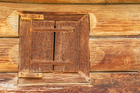 Photo for Old window of a wooden house. - Royalty Free Image