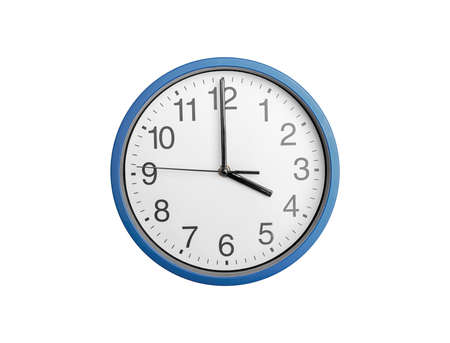 Photo for Round clock with arrows isolated on white background - Royalty Free Image