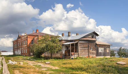 The back yard of the monastery. John the Baptist convent. Sviyazhsk, Kazan, Russia