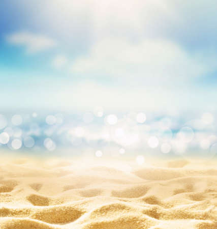 Summer beach background. Sand, sea and sky. Summer concept