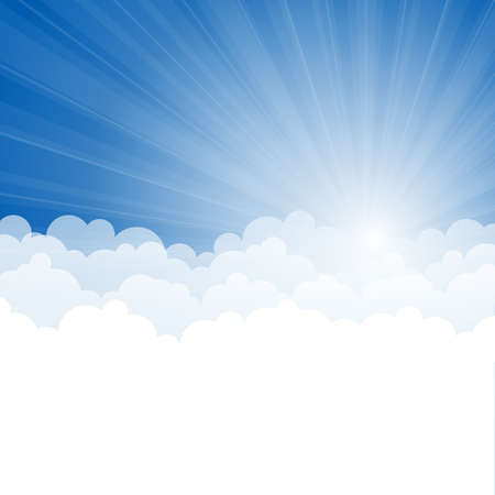 Abstract background with Rays and clouds