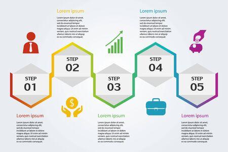 Illustration pour Illustration Infographic , marketing icon for workflow layout , idea strategy , vector eps10 - image libre de droit
